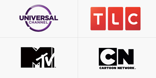 Universal, Watch, MTV, Cartoon Network
