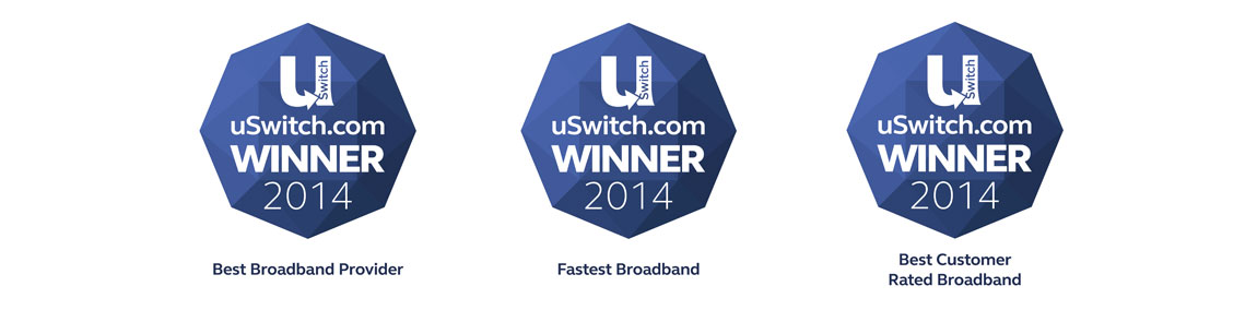 uSwitch awards - Best broadband provider 2013