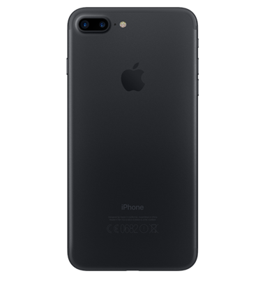 Back view of Apple iPhone 7 Plus 128GB Black