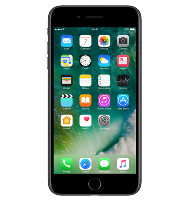 Front view of Apple iPhone 7 Plus 128GB Black