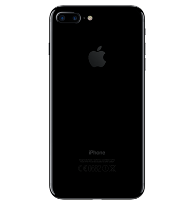 Back view of Apple iPhone 7 Plus 128GB  Jet Black