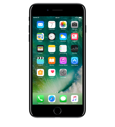 Front view of Apple iPhone 7 Plus 128GB  Jet Black