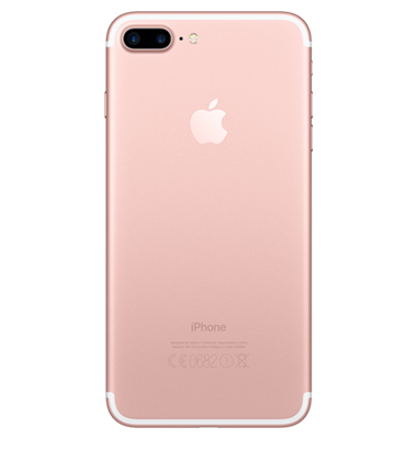 Back view of Apple iPhone 7 Plus 32GB Rose Gold