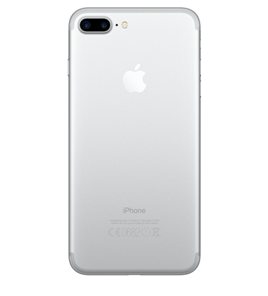 Back view of Apple iPhone 7 Plus 32GB Silver