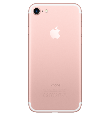 Back view of Apple iPhone 7 128GB Rose Gold