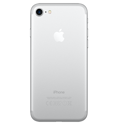 Back view of Apple iPhone 7 32GB Silver