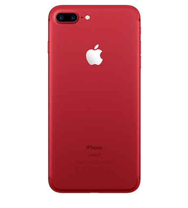 Back view of Apple iPhone 7 Plus 128GB Red