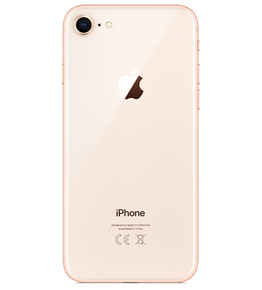 iphone 8 gold. rear view of apple iphone 8 64gb gold iphone 0