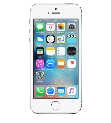 Front view of Apple iPhone 5s 16GB Silver
