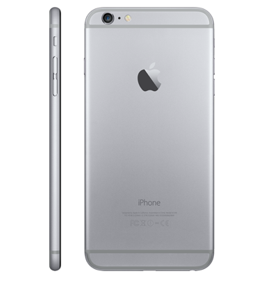 Right side & back view of Apple iPhone 6 64GB Space Grey