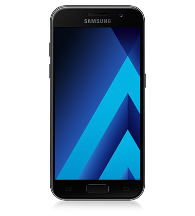 Front view of Samsung Galaxy A3 (2017) Black phone