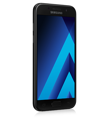 Right angle view of Samsung Galaxy A3 (2017) Black phone
