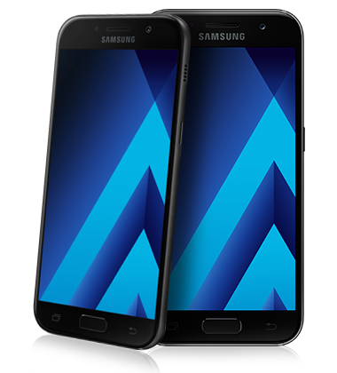 Composite view of Samsung Galaxy A5 (2017) Black phone