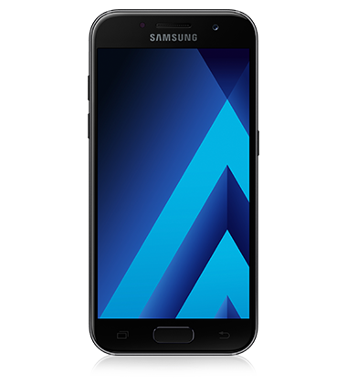 Front view of Samsung Galaxy A5 (2017) Black phone