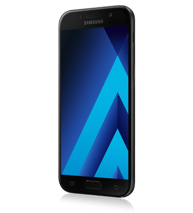 Left angle view of Samsung Galaxy A5 (2017) Black phone