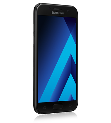 Right angle view of Samsung Galaxy A5 (2017) Black phone