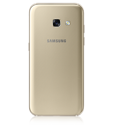 Back view of Samsung Galaxy A5 (2017) Gold phone