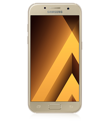 Front view of Samsung Galaxy A5 (2017) Gold phone
