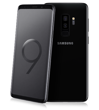 Composite view of Samsung Galaxy S9+ Midnight Black