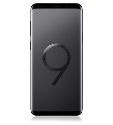 Front view of Samsung Galaxy S9+ Midnight Black