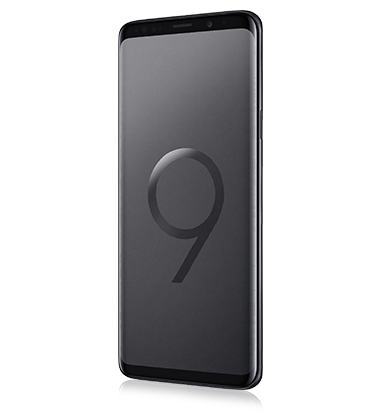 Left angle view of Samsung Galaxy S9+ Midnight Black