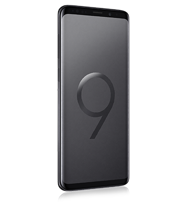 Right angle view of Samsung Galaxy S9+ Midnight Black