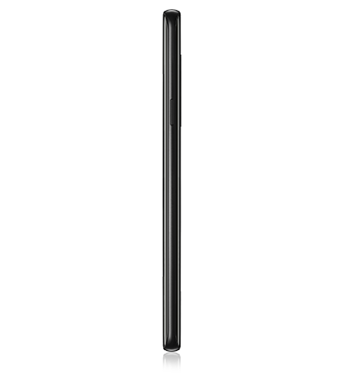 Right side view of Samsung Galaxy S9+ Midnight Black
