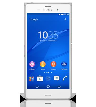 Sony Xperia Z3 WhiteXperia Z White Front