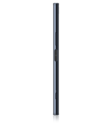 Left side view of Sony Xperia XZ Premium Black phone