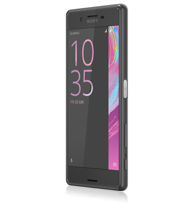 Angle view of Sony Xperia X Graphite Black phone