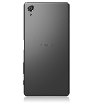 Back view of Sony Xperia X Graphite Black phone