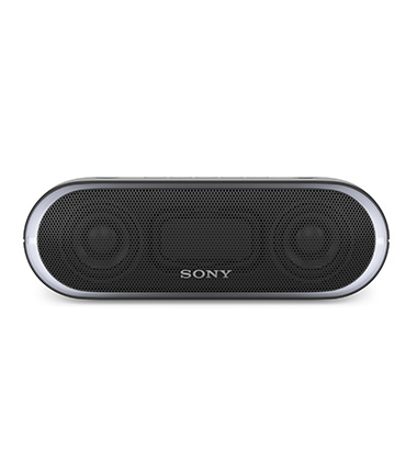 Front view of Sony SRS-XB20 wireless speaker