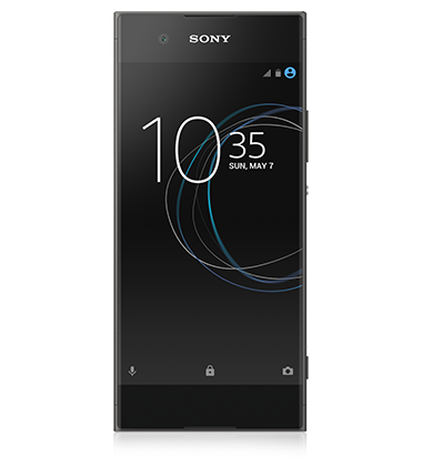 Front view of Sony Xperia XA1 Graphite Black