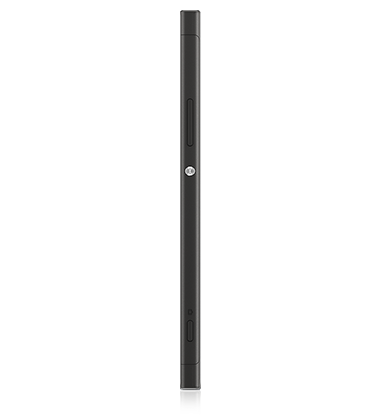 Left side view of Sony Xperia XA1 Black phone