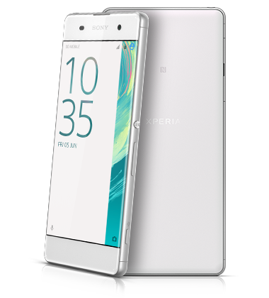 Composite view of Sony Xperia XA White phone