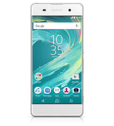Front view of Sony Xperia XA White phone