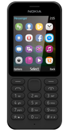 Product view of the Nokia 215 Black phone