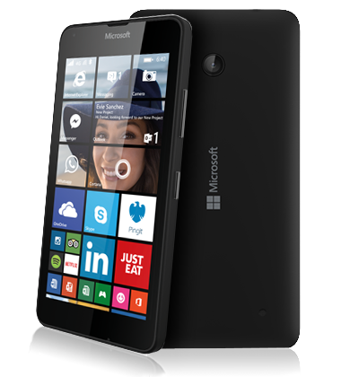 Composite view of the Microsoft Lumia 640 Black phone