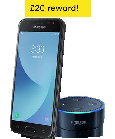 Samsung Galaxy J3 + Amazon Echo Dot