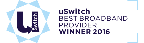uSwitch - Best Broadband Provider - Winner